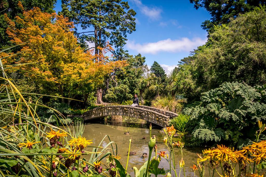 Le jardin botanique de Christchurch.