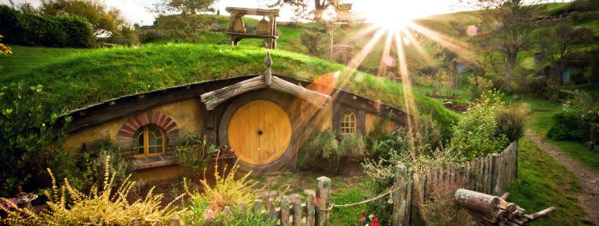 Hobbition, à Matamata. Le village des hobbits.