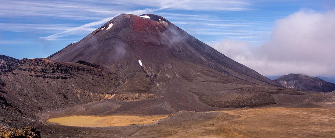Mont Ngauruhoe, connu sous le nom de la Montagne du Destin dans le Seigneur des Anneaux