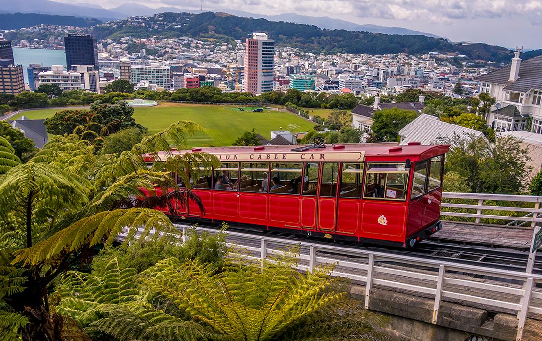 Le Cable Car, un funéculaire, relie le jardin botanique à la ville. Il y a plus de 300 funéculaires privés dans la ville.