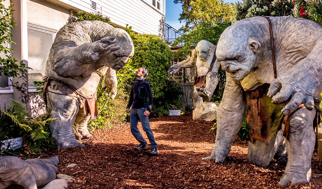Weta Workshop a réalisé de nombreuses statues pour Le Seigneur des Anneaux et Le Hobbit. On en retrouve un peu partout en ville.