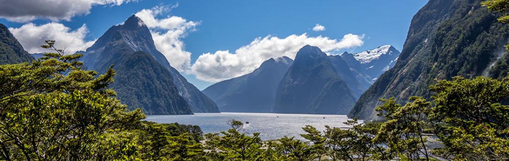 Le Milford Sound et son Mitre Peak à gauche.