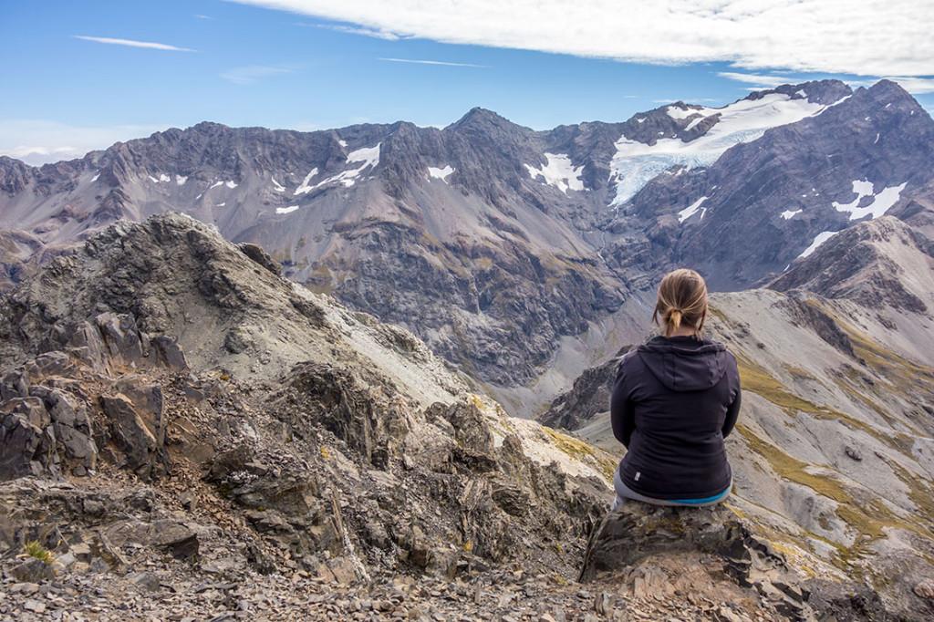Au sommet d'Avalanche Peak environ 1800m