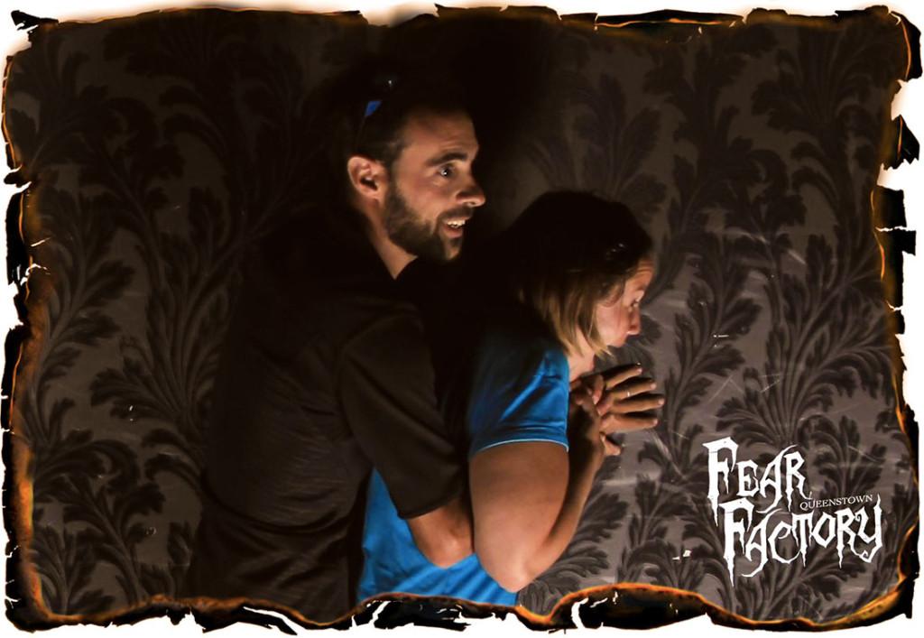 Petite frayeur dans la maison hantée de Fear Factory, sur Queenstown.