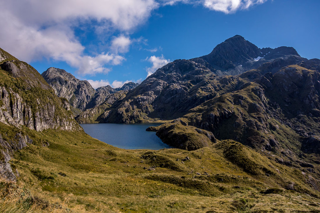 Le lac Harris sur la Great Walk : Routeburn Track