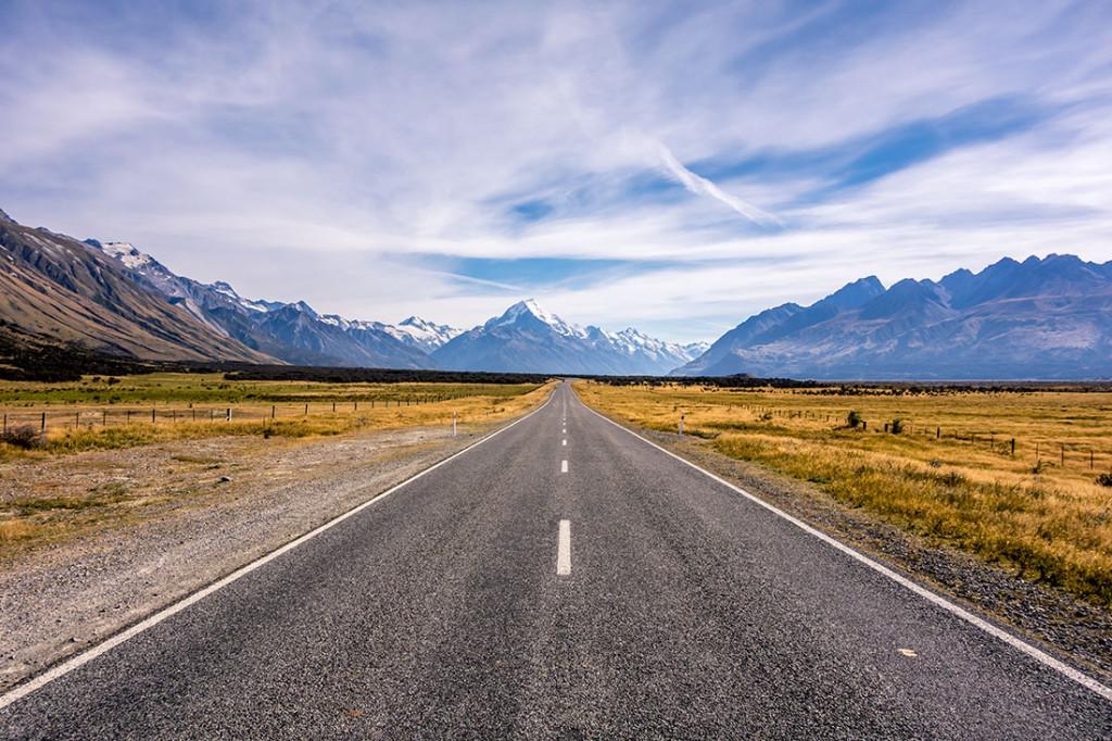 En route pour le Mont Cook