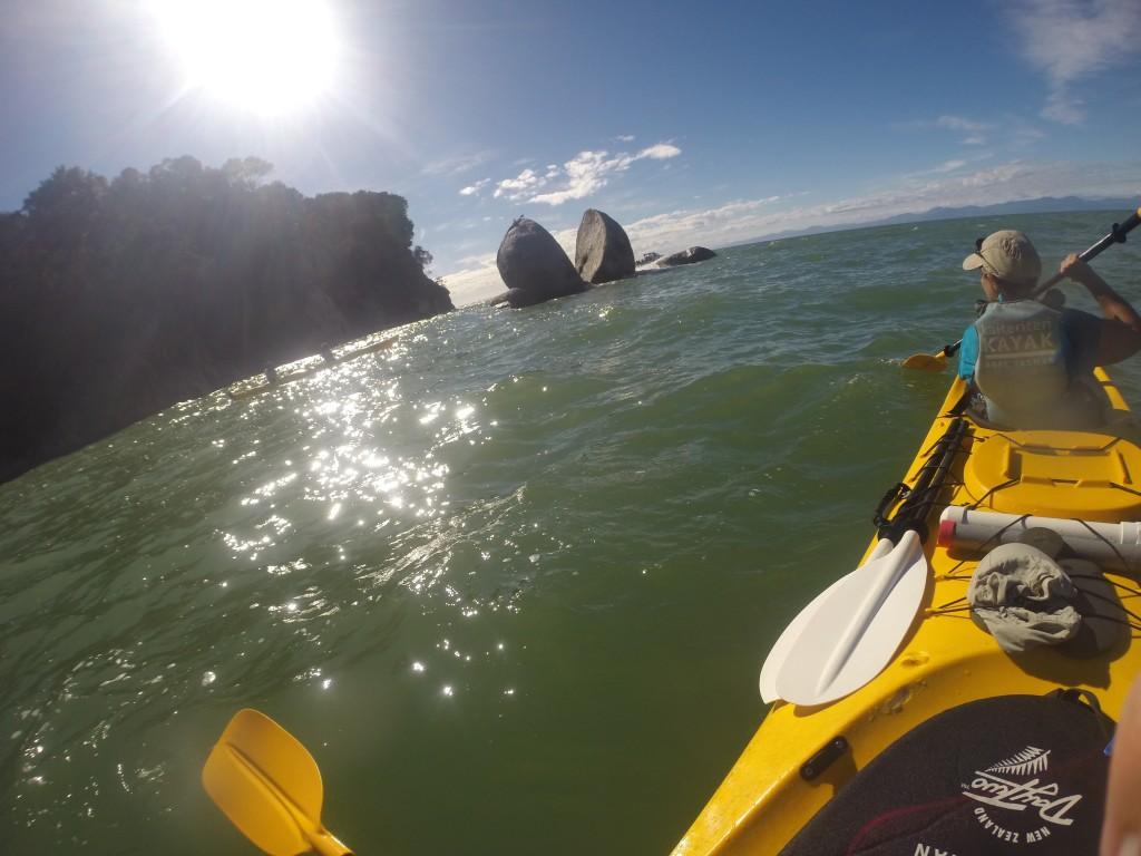 Split Apple Rock vue depuis notre kayak de mer