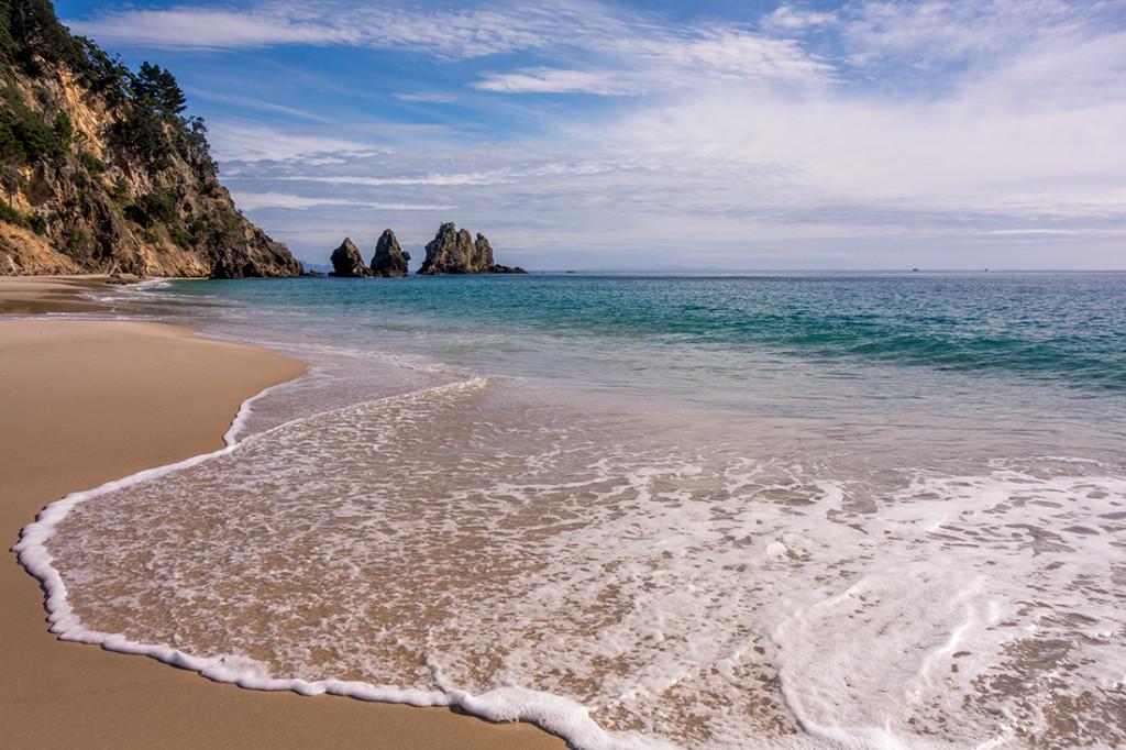 La magnifique plage de Otama.