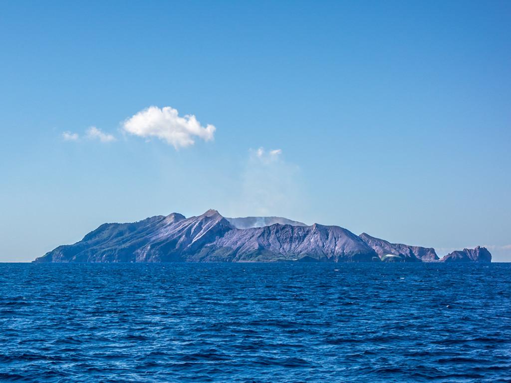 White Island depuis notre bateau.